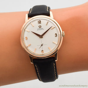 1958 Vintage Omega Automatic Ref. 2898-SC-7/2987 18k Rose Gold Watch