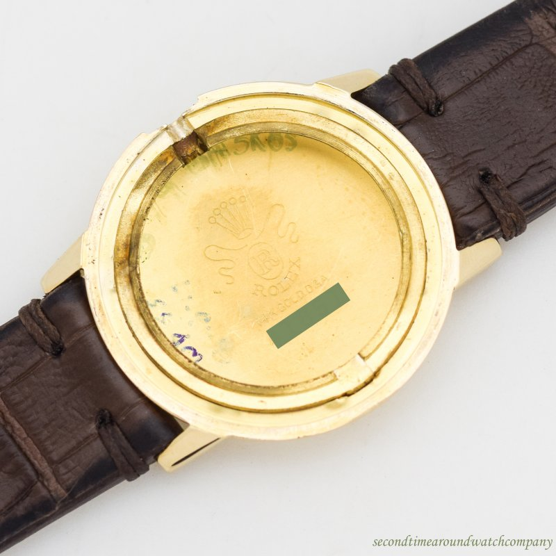 1960's Vintage Rolex 14k Yellow Gold Recognition Watch