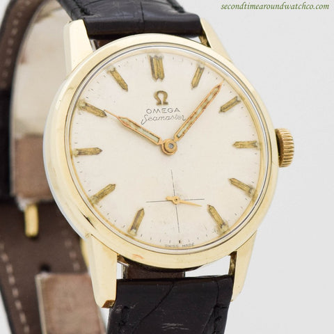 1960 Vintage Omega Seamaster Ref. 14389-8 14K Yellow Gold Shell & Stainless Steel Watch