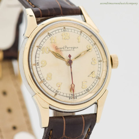 1949 Vintage Girard Perregaux Automatic 18k White Gold & Stainless Steel Watch