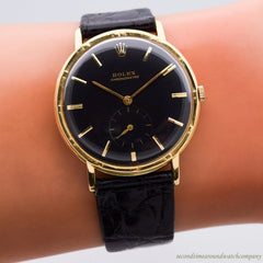 1950's Vintage Rolex Chronometre Reference 4325 18k Yellow Gold Watch