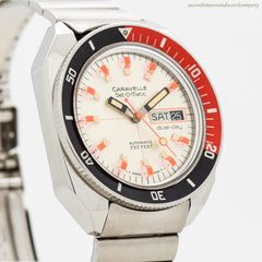 1973 Vintage Caravelle Set-o-Matic Dual Day Stainless Steel Watch