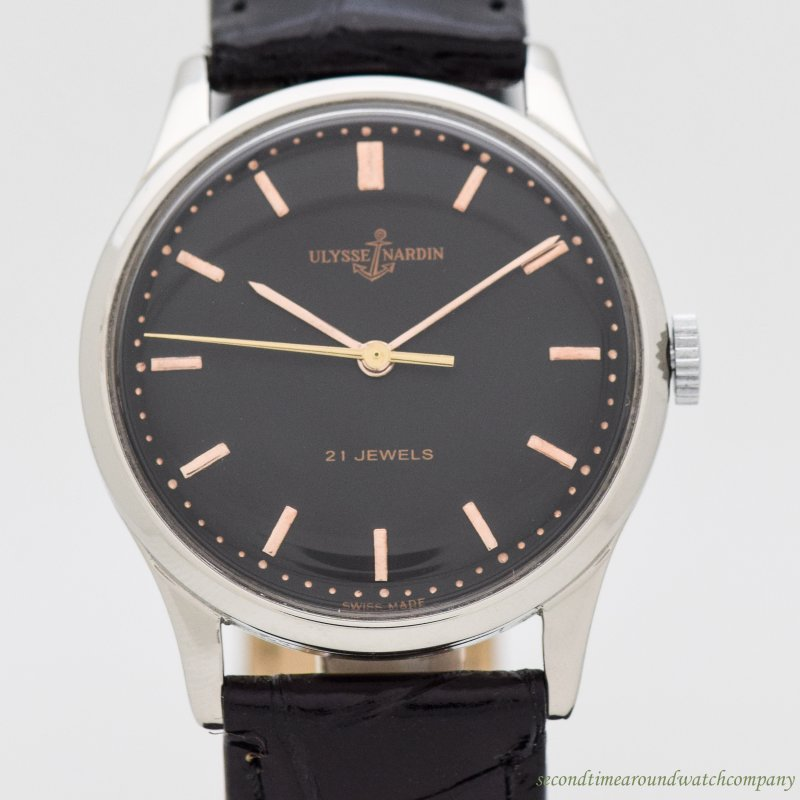 1960's Vintage Ulysse Nardin Stainless Steel Watch