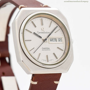 1975 Vintage Omega Constellation Day-Date Ref. 166.0219 Stainless Steel Watch
