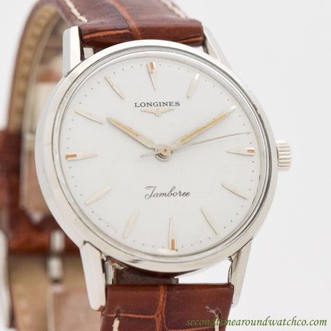 1960's Vintage Longines Jamboree Stainless Steel Watch