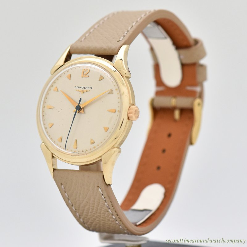 1952 Vintage Longines 14k Yellow Gold Watch