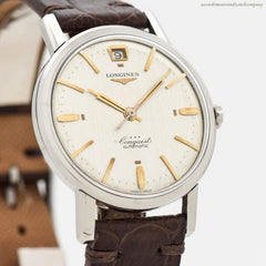 1959 Vintage Longines Conquest Automatic Stainless Steel Watch