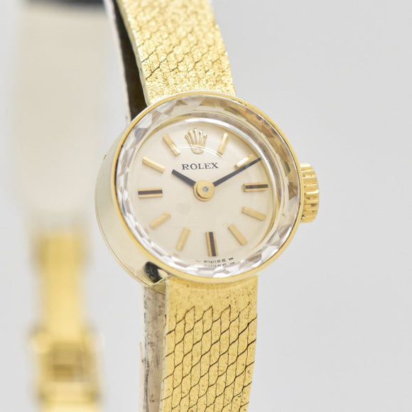 1980's-90's Rolex Ladies 14k Yellow Gold Watch