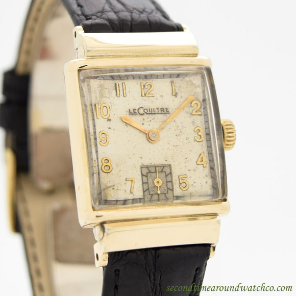 1940's Vintage Jaeger LeCoultre Square-shaped 10k Yellow Gold Filled Watch (# 11039)