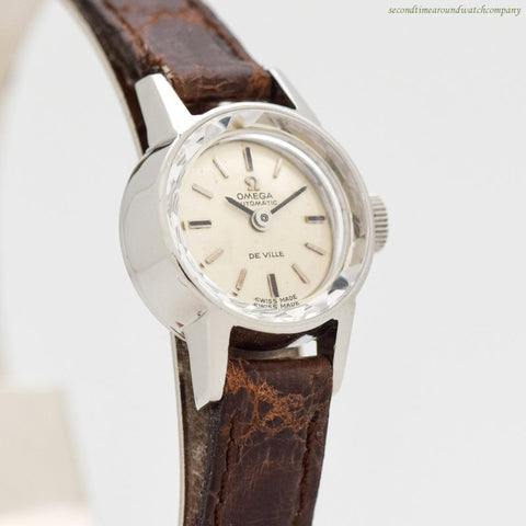 1966 Vintage Omega De Ville Ladies Stainless Steel Watch