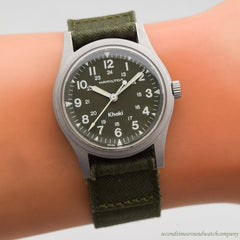 1980's-90's era Hamilton Khaki Stainless Steel Watch