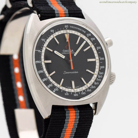 1967 Vintage Omega Seamaster Chronostop Ref. 145.007 Stainless Steel Watch