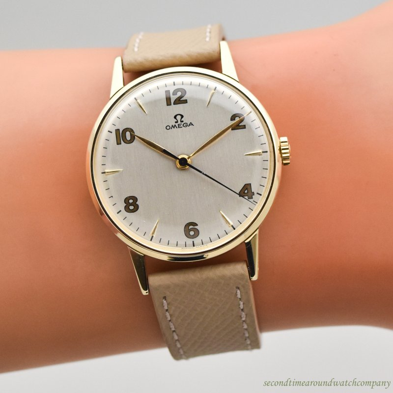 1949 Vintage Omega Reference CK-2320 14K Yellow Gold Watch