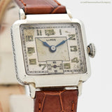 1931 Vintage Illinois Art Deco-style 14k White Gold Filled Watch