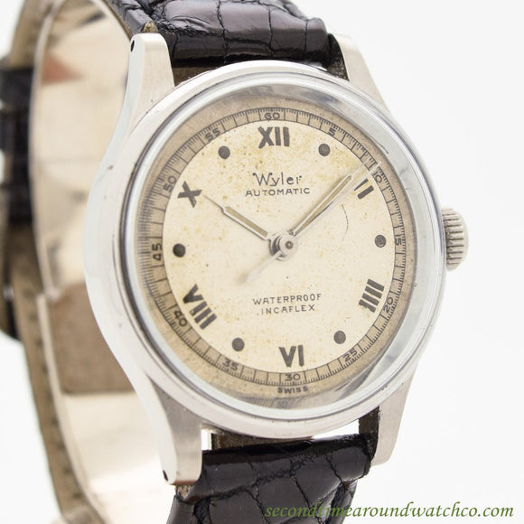 1960's Vintage Wyler Incaflex Stainless Steel Watch