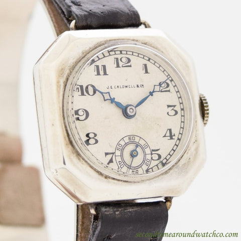 SOLD - 1920's Vintage J.E. Caldwell & Co. Ladies Sterling Silver Watch