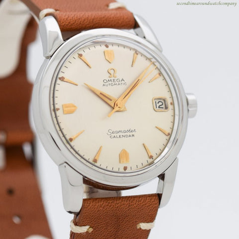 1957 Vintage Omega Seamaster Calendar Reference 2846-3-SC Stainless Steel Watch