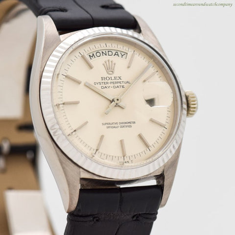 1968 Vintage Rolex Day-Date President Ref. 1803 18k White Gold Watch