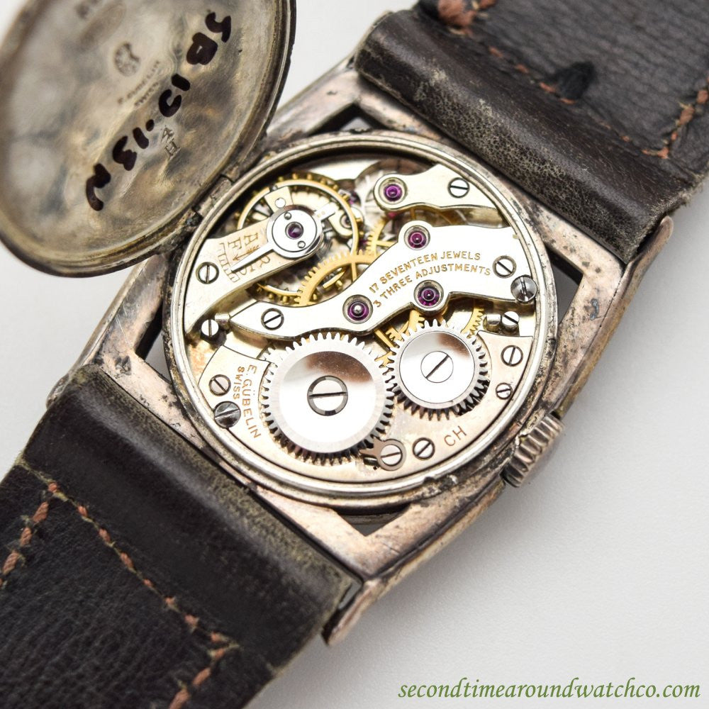 1920's Vintage Gubelin Sterling Silver Watch