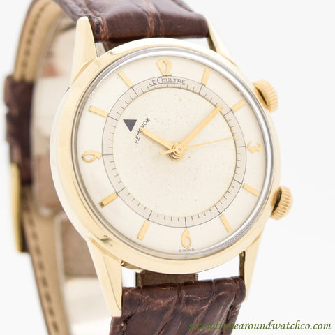 1950's Vintage Jaeger LeCoultre Memovox Alarm 10k Yellow Gold Filled Watch