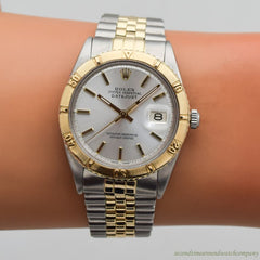 1967 Vintage Rolex Thunderbird Datejust Ref. 1625 14k Yellow Gold & Stainless Steel Watch
