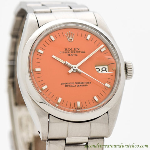 1968 Vintage Rolex Date Automatic Ref. 1500 Stainless Steel Watch