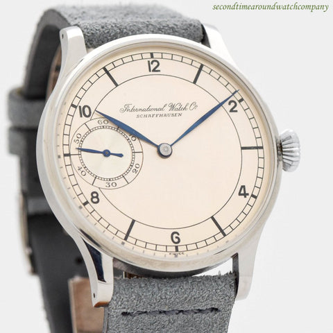 1930 Vintage IWC Pocket Watch Conversion in Stainless Steel