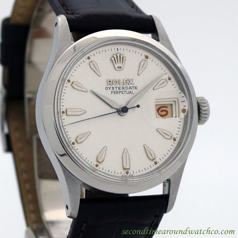 1956 Vintage Rolex Oyster Date Ref. 6518 Stainless Steel watch