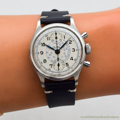 1945 Vintage Breitling 2-Register Chronograph Ref. 777 Stainless Steel Watch