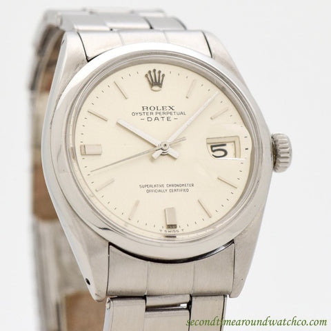 1966 Vintage Rolex Date Automatic Ref. 1500 Stainless Steel Watch