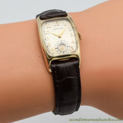 1938 Vintage Hamilton Boulton 14k Yellow Gold Filled Watch