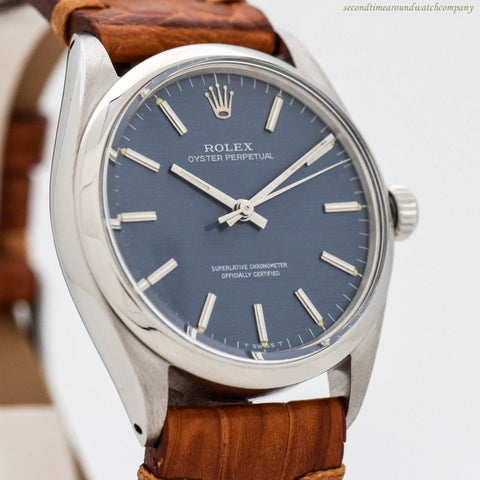 1966 Vintage Rolex Oyster Perpetual Ref. 1002 Stainless Steel Watch