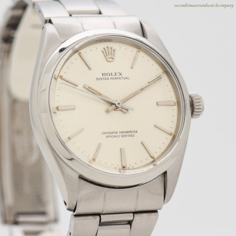 1965 Vintage Rolex Oyster Perpetual Reference 1002 Stainless Steel Watch
