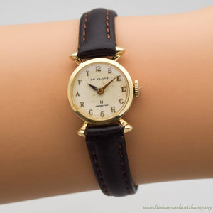 1967 Vintage Hamilton 14k Yellow Gold Recognition/Award Watch