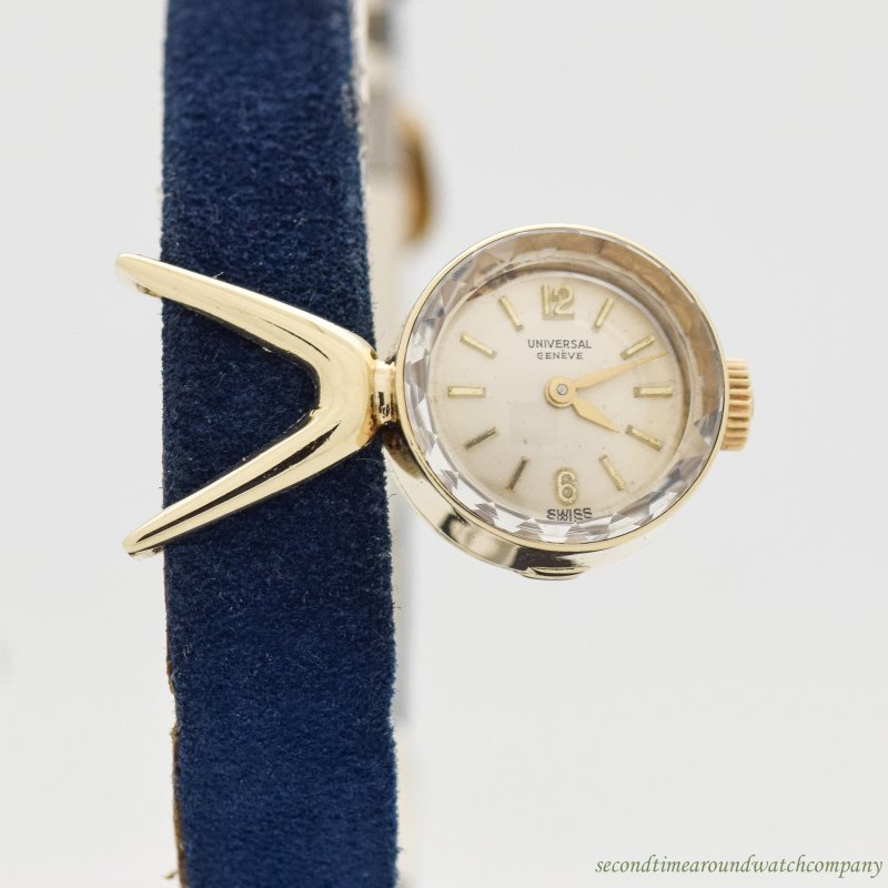 1960's Vintage Universal Geneve Chameleon 14k Yellow Gold Watch