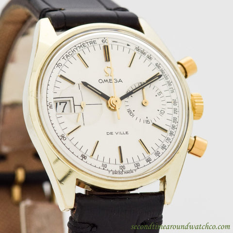 1969 Vintage Omega De Ville Ref. 146.017 14k Yellow Gold Shell & Stainless Steel Watch