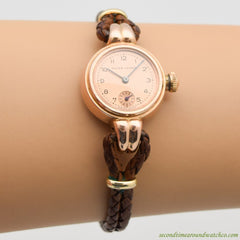 1950's-60's Vintage Rolex Oyster Ladies 14k Rose Gold Watch