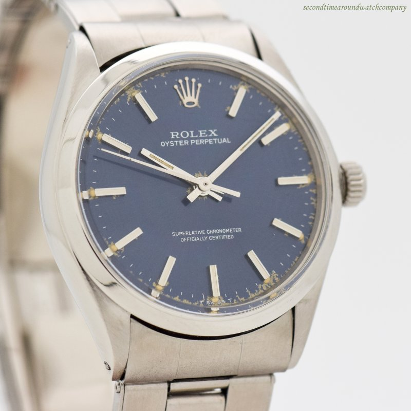 1972 Vintage Rolex Oyster Perpetual Reference 1002 Stainless Steel Watch 222d15c6798