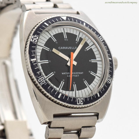 1970's era Caravelle Diver 666 Ref. 3286-DP Stainless Steel Watch