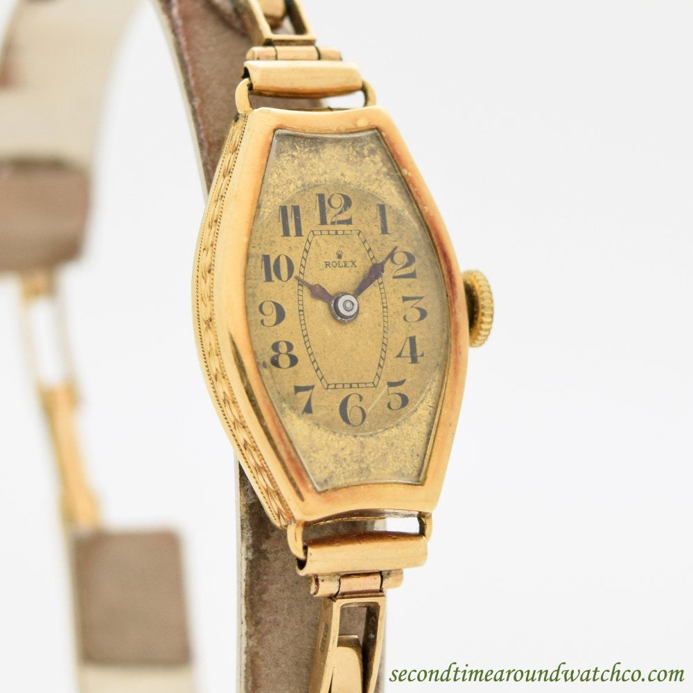 1939 Vintage Rolex Ladies 18K Yellow Gold Watch