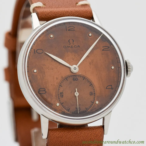 1943 Vintage Omega Ref. 2318/3 Military-era Stainless Steel Watch