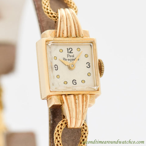 1950's Vintage Paul Breguette Ladies 14k Yellow Gold Watch