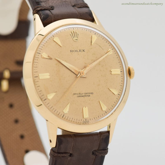 1960's-70's Vintage Rolex Chronometer 18k Yellow Gold Watch