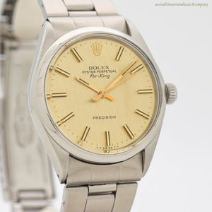 1972 Vintage Rolex Air-King Reference 5500 Stainless Steel Watch