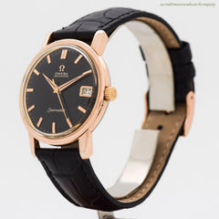 1963 Vintage Omega Seamaster Reference 166.003 14k Rose Gold Plated & Stainless Steel Watch