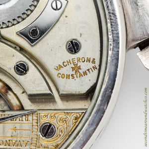 1908 Vintage Vacheron Constantin Pocket Watch Conversion Stainless Steel Watch