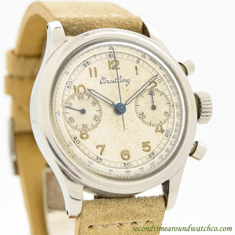 1950's Breitling 2 Register Chronograph Stainless Steel