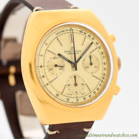 1970's Vintage Breitling Ref. 1451 Yellow Gold Plated Watch