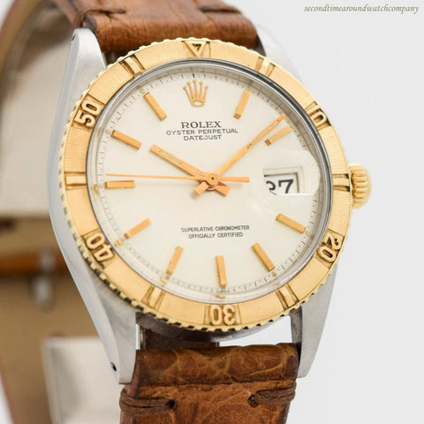 1968 Vintage Rolex Thunderbird Datejust Ref. 1625 18k Yellow Gold & Stainless Steel Watch