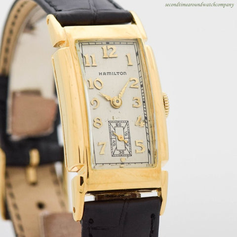1938-1939 Vintage Hamilton Dickens 14k Yellow Gold Filled Watch